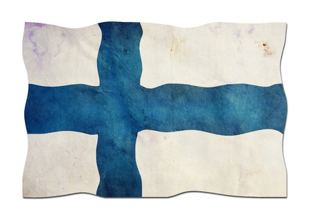 Finnish Flag made of Paper