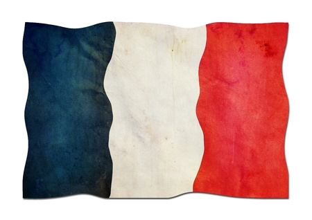 French Flag made of Paper