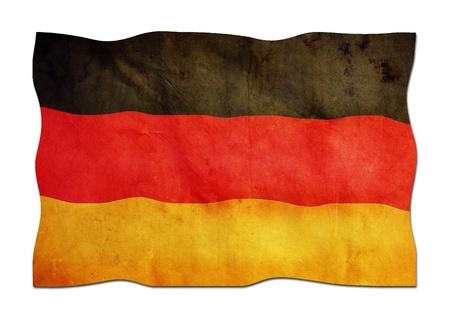 identidad cultural: Bandera alemana de papel Foto de archivo
