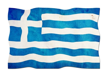 Greek Flag made of Paper  photo