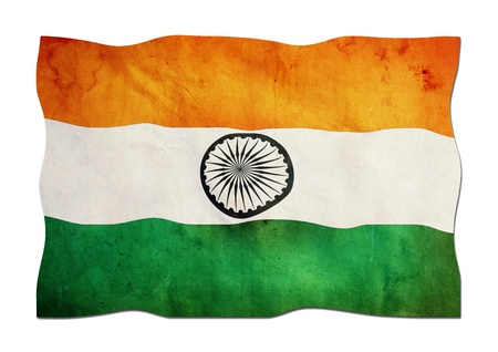 identidad cultural: Bandera de la India de papel