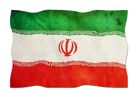 Iranian Flag made of Paper  photo