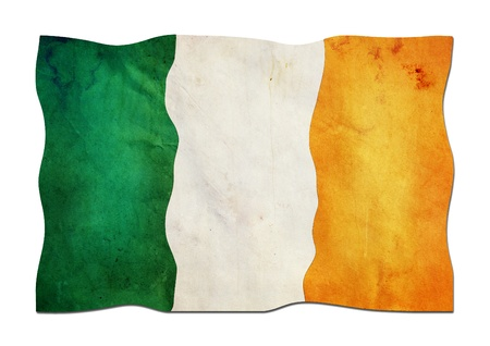 Irish Flag made of Paper  photo