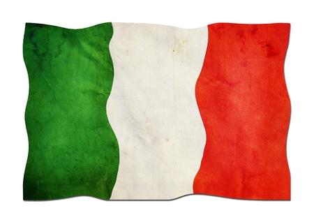 Drapeau de l'Italie en papier Banque d'images