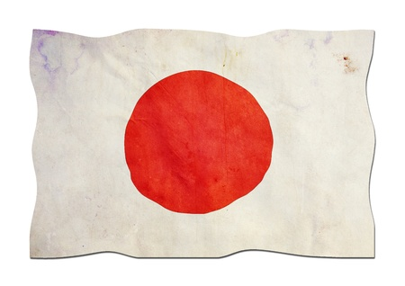 Japanese Flag made of Paper  photo
