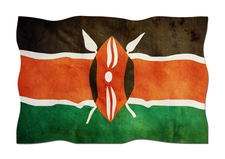 Kenyan Flag made of Paper  Stock Photo - 14255560