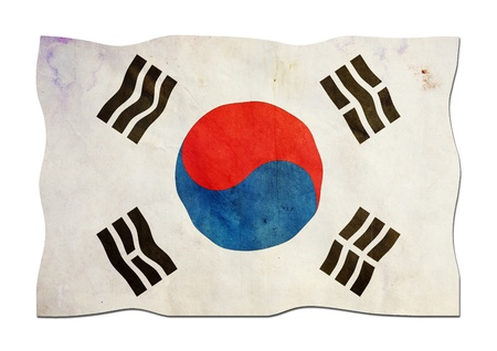 South Korean Flag made of Paper  Image ID
