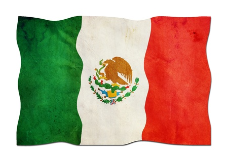 Mexican Flag made of Paper  photo