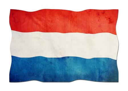 identidad cultural: Pa�ses Bajos Bandera de papel Foto de archivo