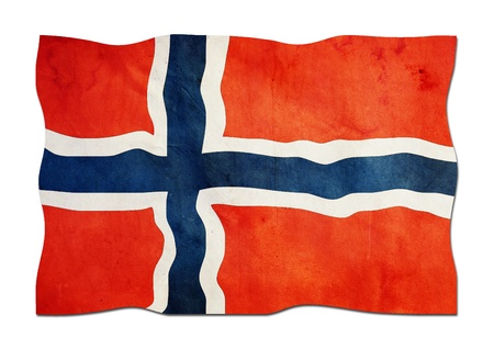Norwegian Flag made of Paper photo