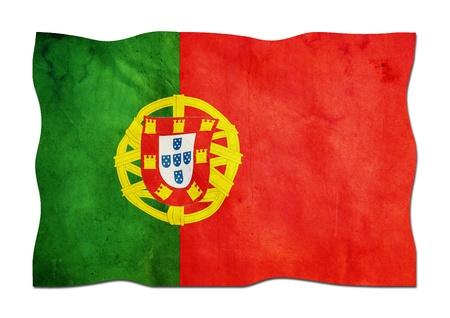 identidad cultural: Bandera portuguesa de papel