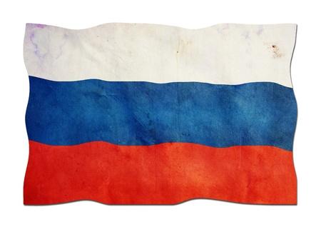 identidad cultural: Bandera rusa hecha de papel