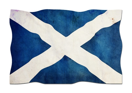 Scottish Flag made of Paper photo