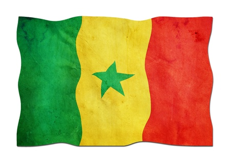 Senegalese Flag made of Paper  photo