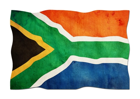 South African Flag made of Paper  photo