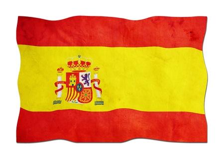 identidad cultural: Bandera espa�ola de papel Foto de archivo