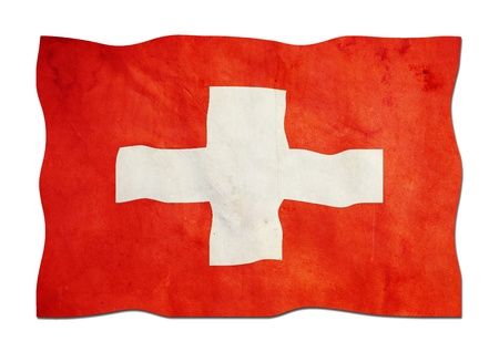 Flag of Switzerland made of Paper  photo
