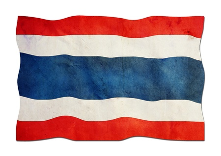 Thailand Flag made of Paper  photo