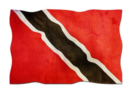 Flag of Trinidad and Tobago made of Paper  photo
