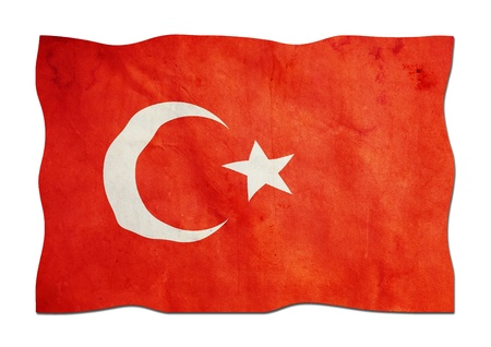 Turkish Flag made of Paper  photo