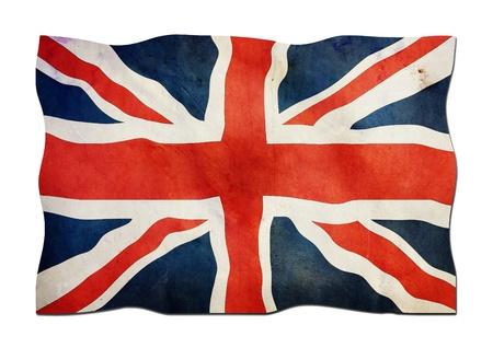 identidad cultural: Bandera del Reino Unido de papel