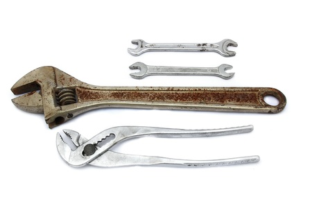 Wrench and Spanner   On a white background