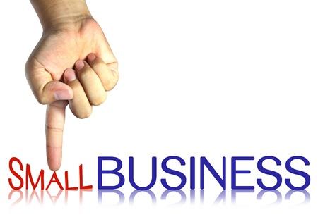 anleihe: Drücken Small Business, Business-Konzept, isoliert