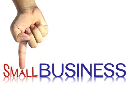 pressing small business , business concept, isolated