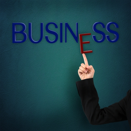businesswomen hand touching screen  photo