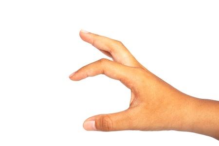 main pour tenir isol� sur fond blanc