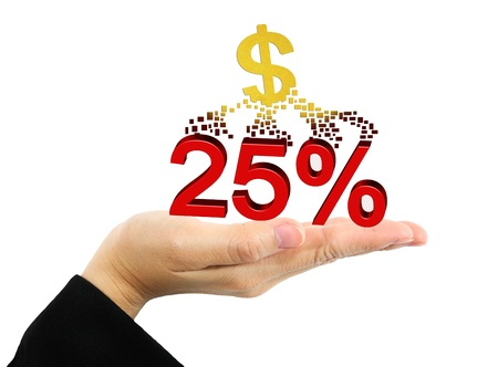 Business concept - Hands holding discount Stock Photo - 16525763