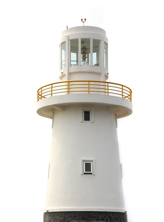 Lighthouse isolated on a white background  Stock Photo