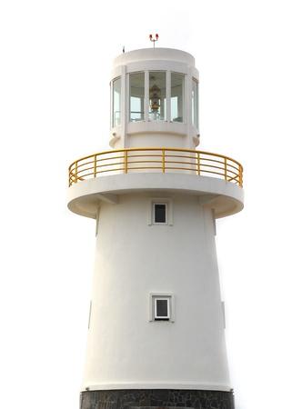 Lighthouse isolated on a white background  Stock Photo