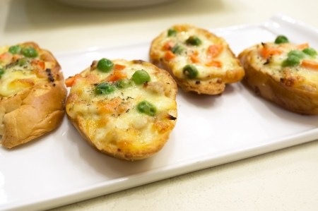 Baked French Bread with tuna and cheese