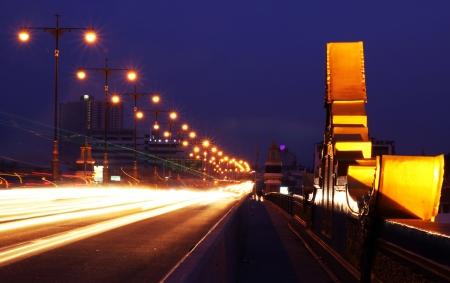 Night motion on streets photo