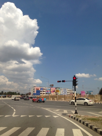 Traffic and blue sky