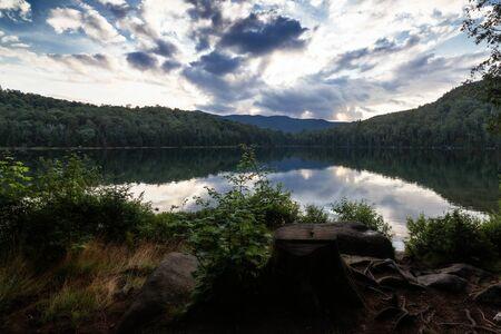 Lake and mountain range Stock Photo