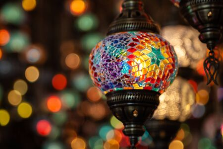 A bunch of turkish lamps 2 Stock Photo