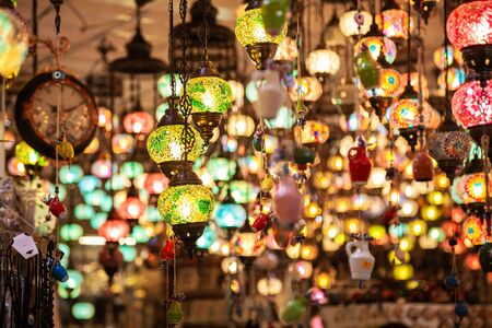A bunch of turkish lamps