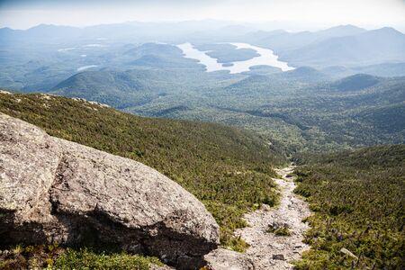 Rocks and Adirondack Mountains view