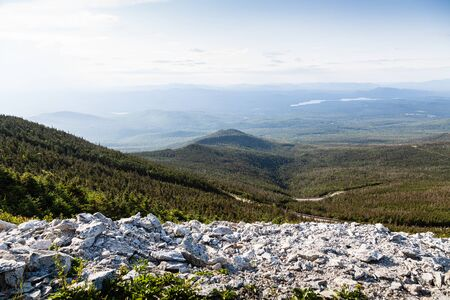 Adirondack Mountains view from top of Whiteface Mountain, New York State, USA