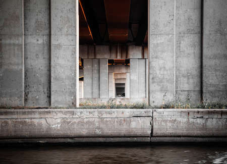 Under the bridge in Montreal Quebec