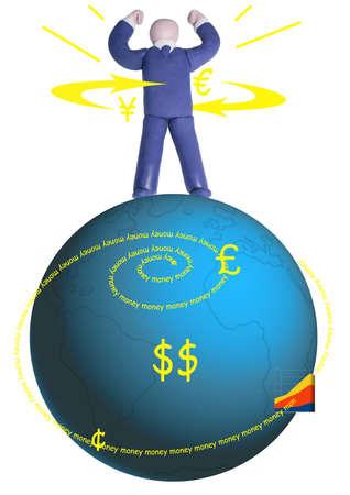 財源: 人間の支配の地球の財源を図します。