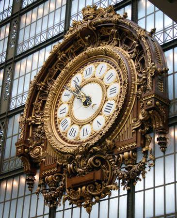 L'horloge monumentale à l'ancienne gare d'Orsay, aujourd'hui Musée d'Orsay, Paris, France Banque d'images - 4653850