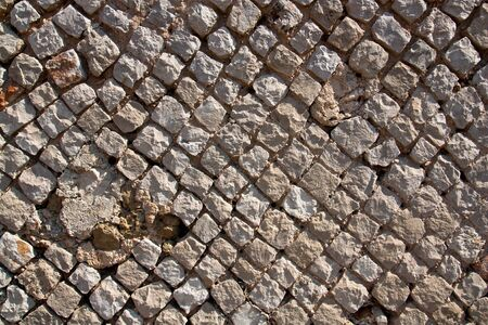 Ancient Roman Wall detail, the so called opus reticulatum
