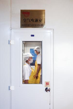 sterilization: Workers in the sterilization chamber