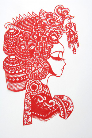 Paper-cut is a very distinctive visual art of Chinese handicrafts. Stock fotó