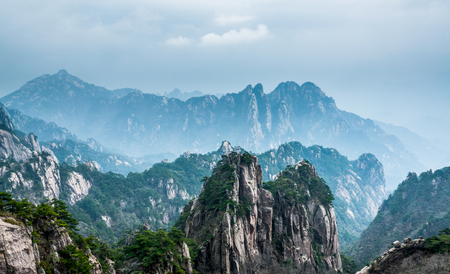 Nature landscape scenery view of Huangshan, China
