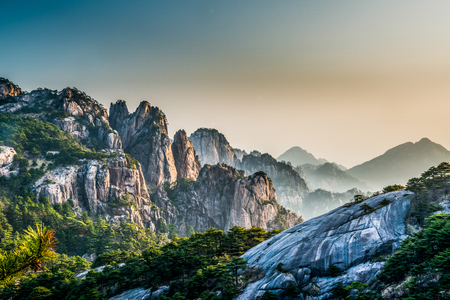 Mount Huangshan at Anhui, China.