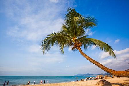 Het strandlandschap van Sanya